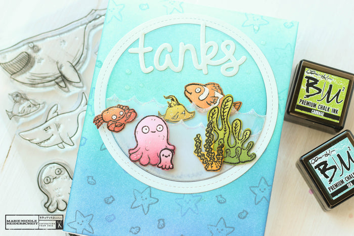 Tanks! Fun Thank You Card Featuring the Fish Bowl Stamp Set