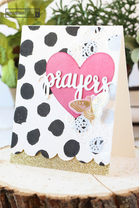Prayers- Creating a Fun Background with Stencils and Embossing Paste