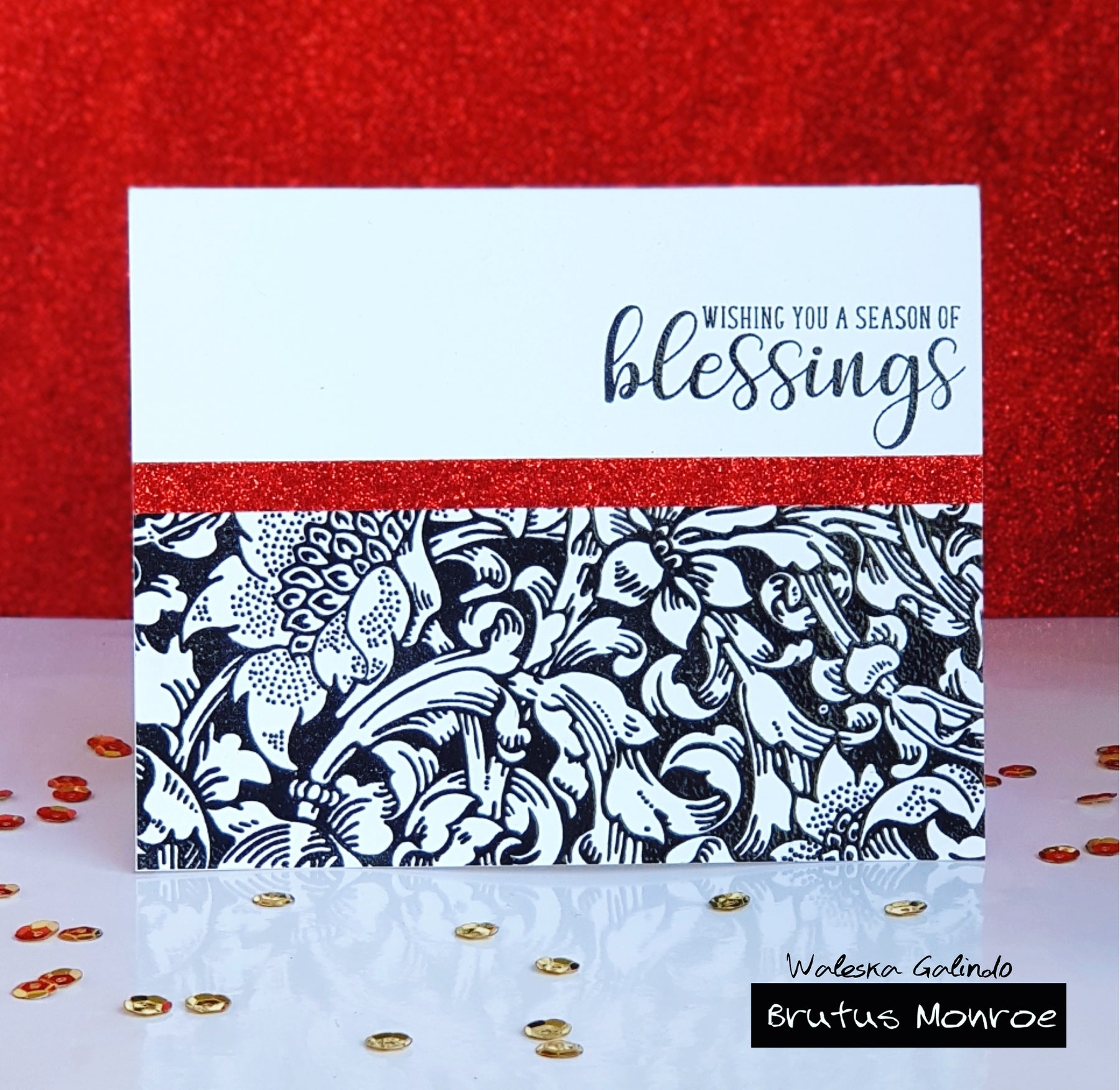 Beatiful Baroque Background Stamp