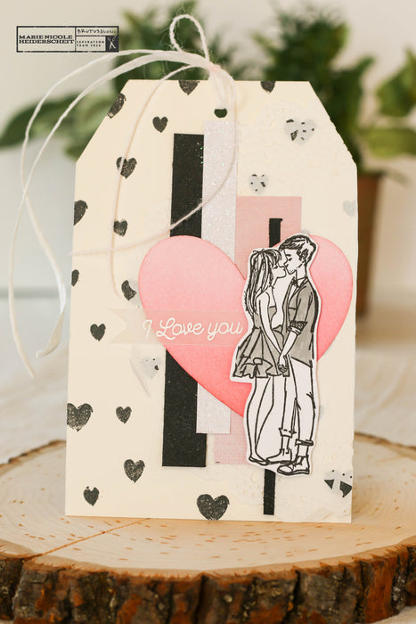 Easy Tag made with Love Grows stamp set and Scrap Papers!