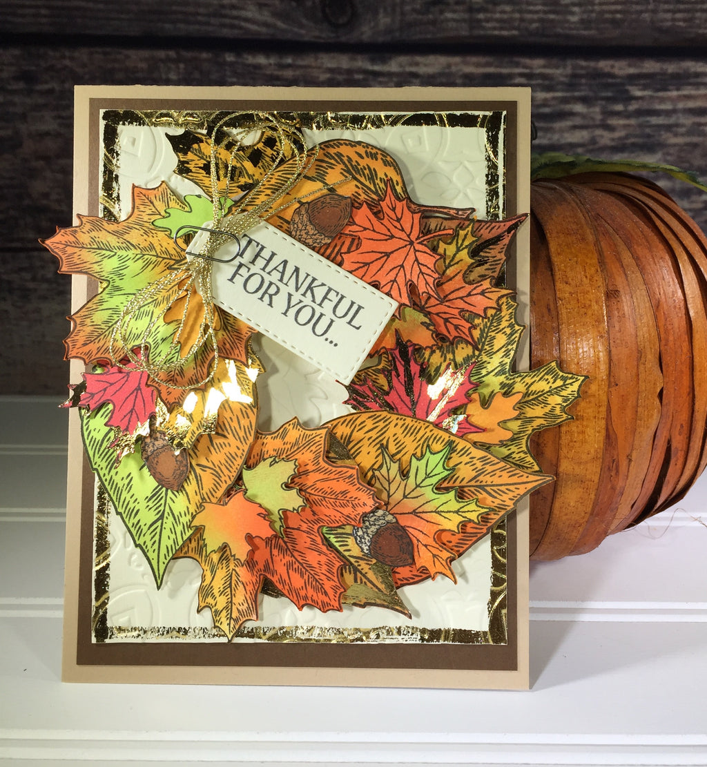 Fall Foil Wreath Card