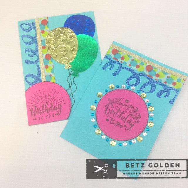Fast Birthday Card Set