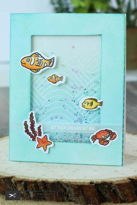 Fish Bowl Shaker Card
