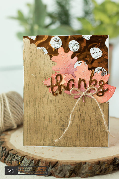 Deco Foil Thank You Card