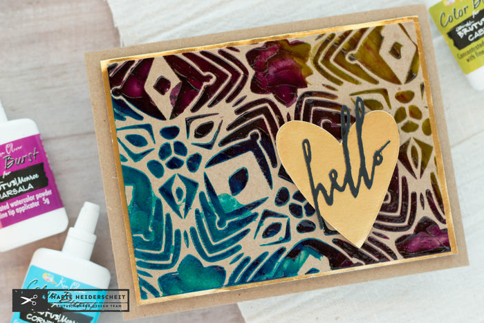 Stenciling with Color Bursts
