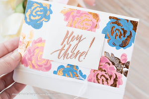 Foiling Layered Stamps with Brutus Monroe Inks + Deco Foil!