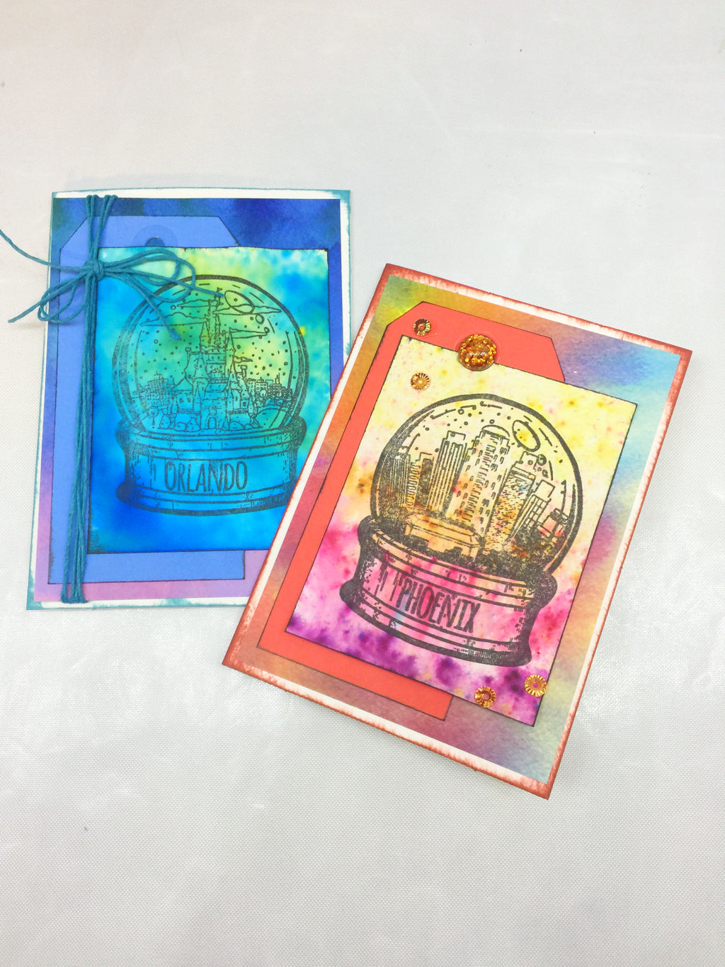 Colorburst Globe Cards and Tips!