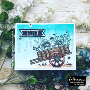 Dragonfly Garden Ombre Card with Jess
