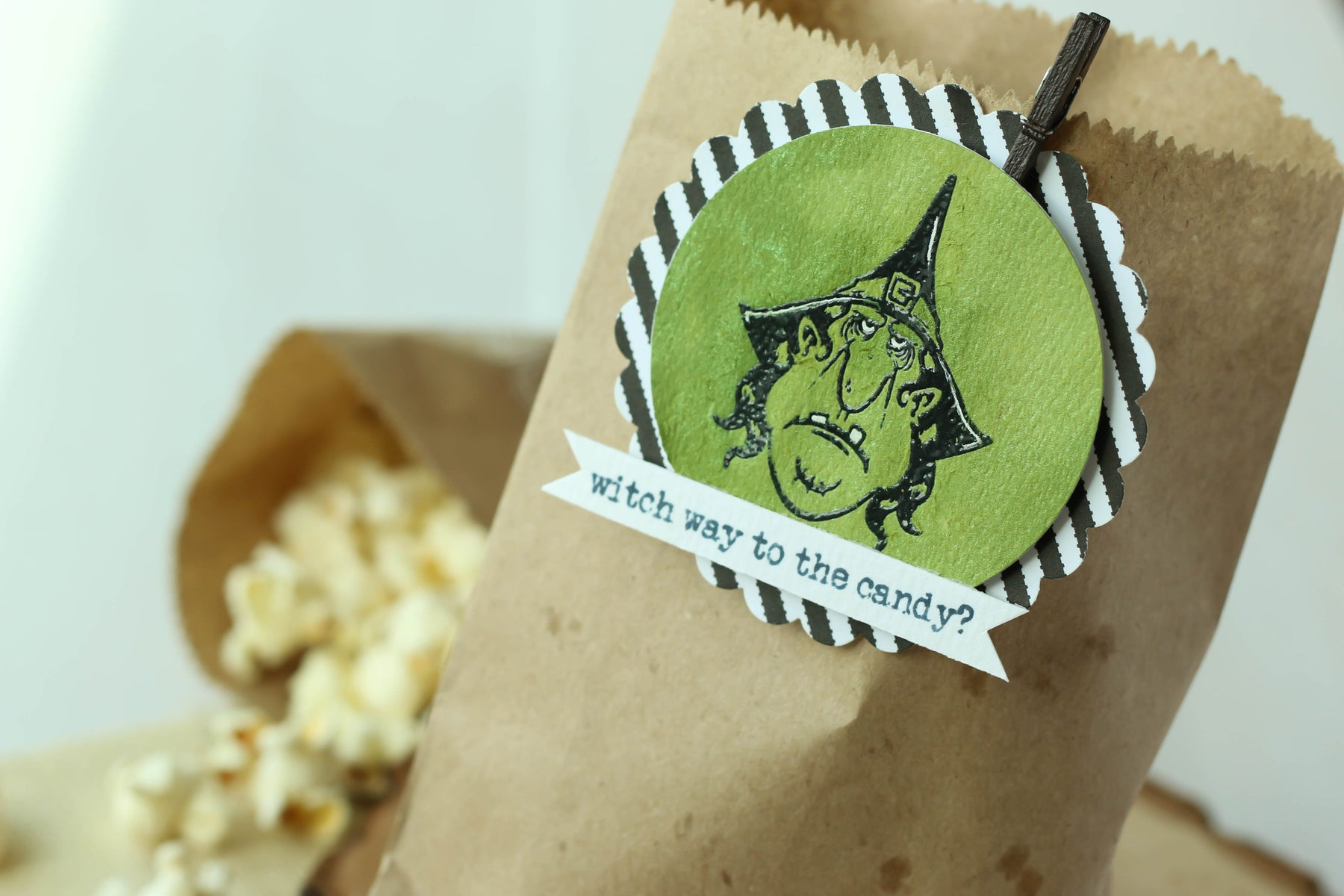 Witch Tag Treat Bags! Coloring Your Backgrounds with Brutus Monroe Shimmer Sprays!