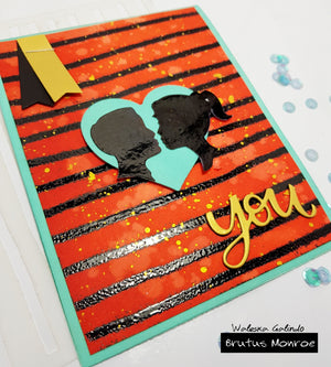 Love YOU card with Create a Cameo Set