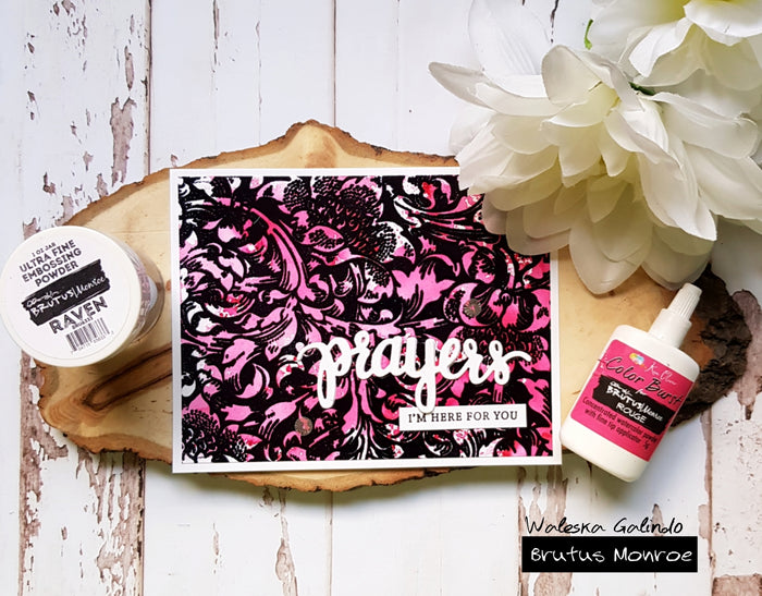 Color Burst and Raven Embossing Powder