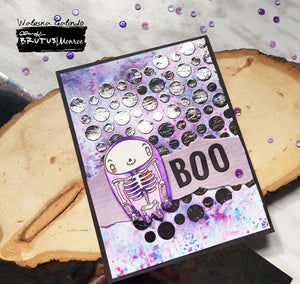 Early Halloween Foiled Card!!!
