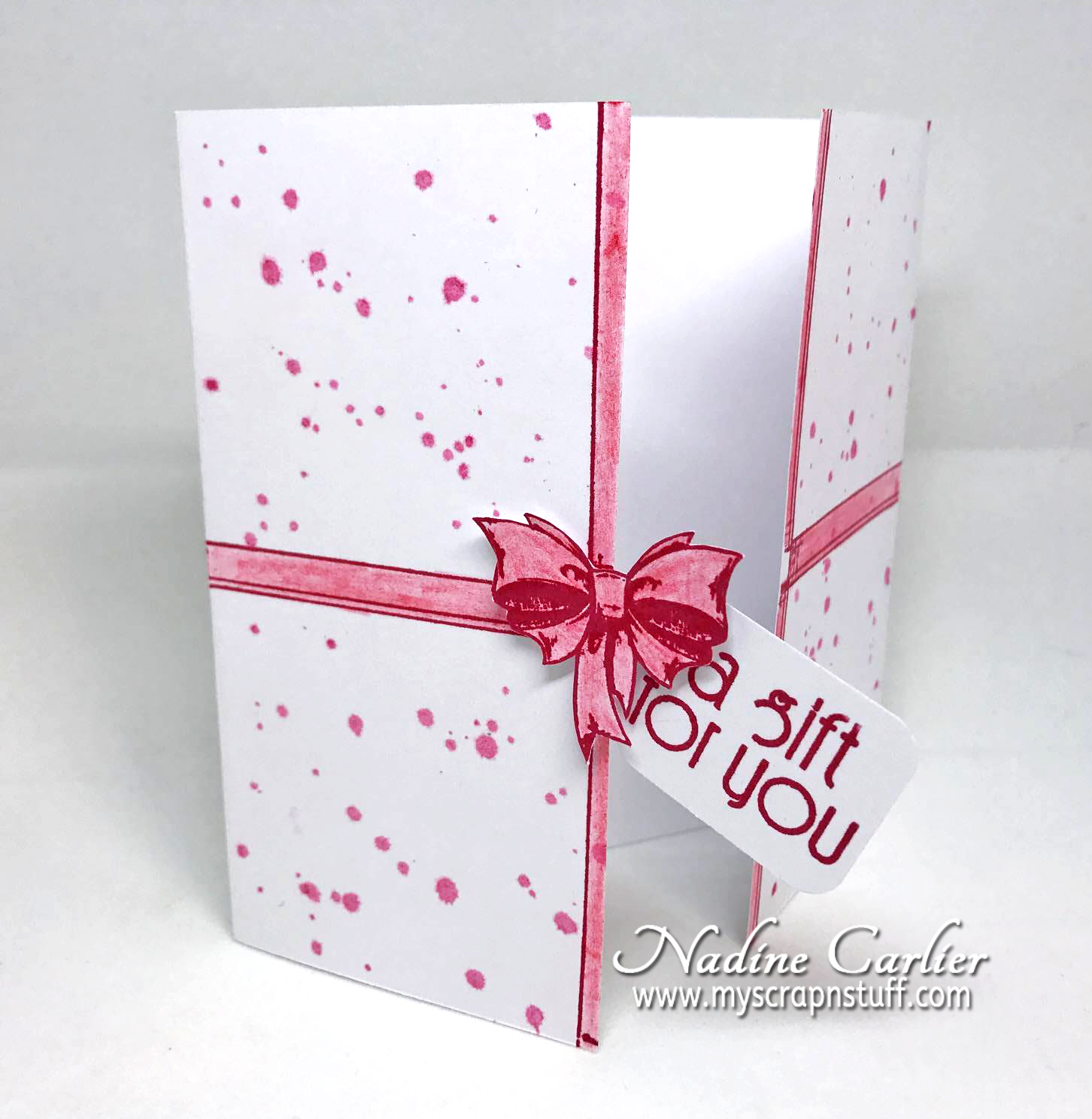 Present Card using Brutus Monroe by Nadine Carlier