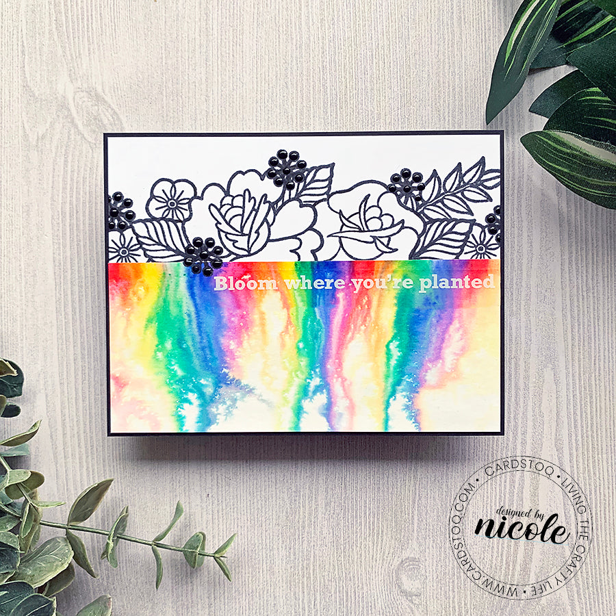 Floral Rainbow Watercolor Melt