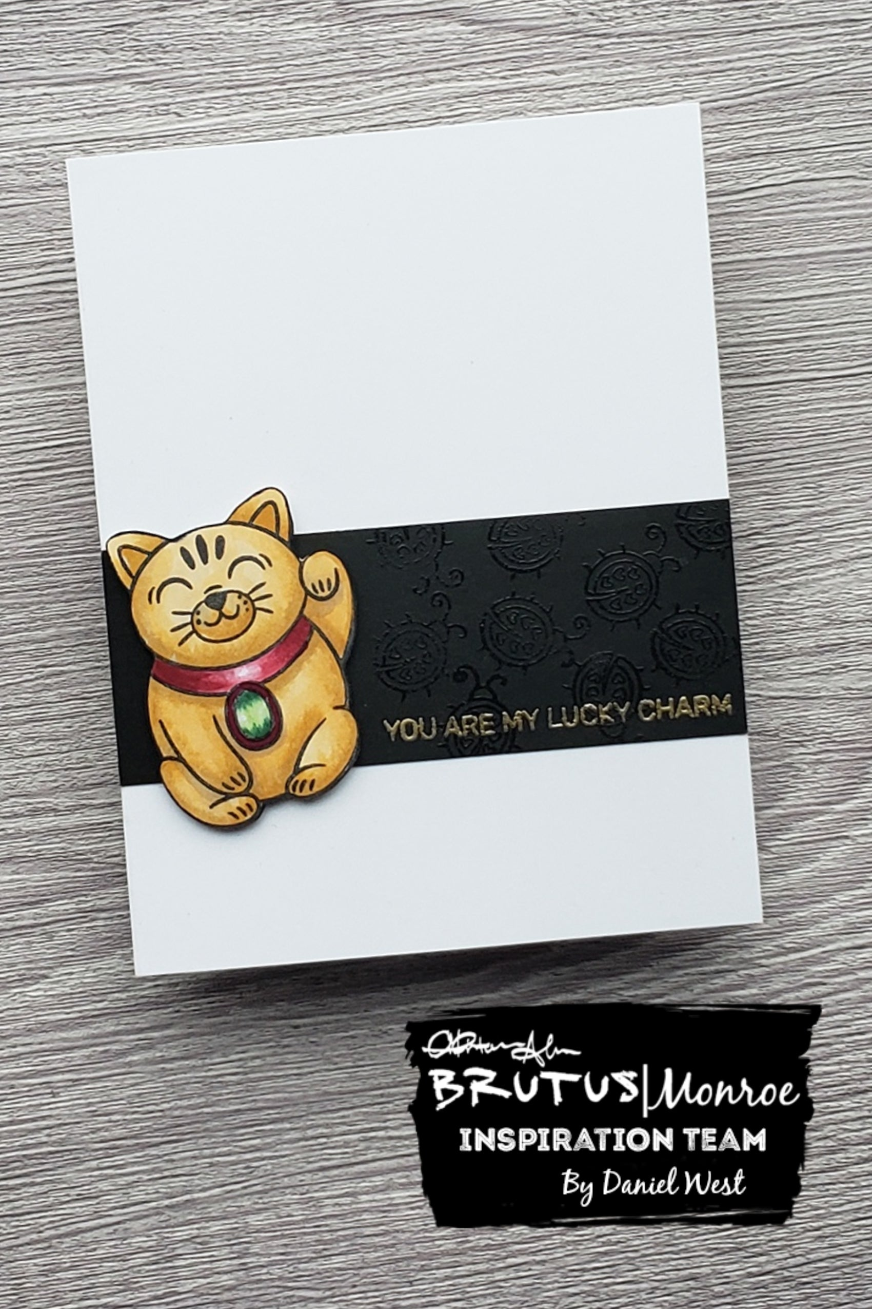 Clean and Simple Lucky Cat Card