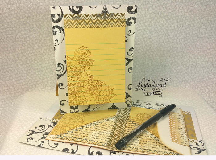 How to make a Junk Journal Page with Stamps