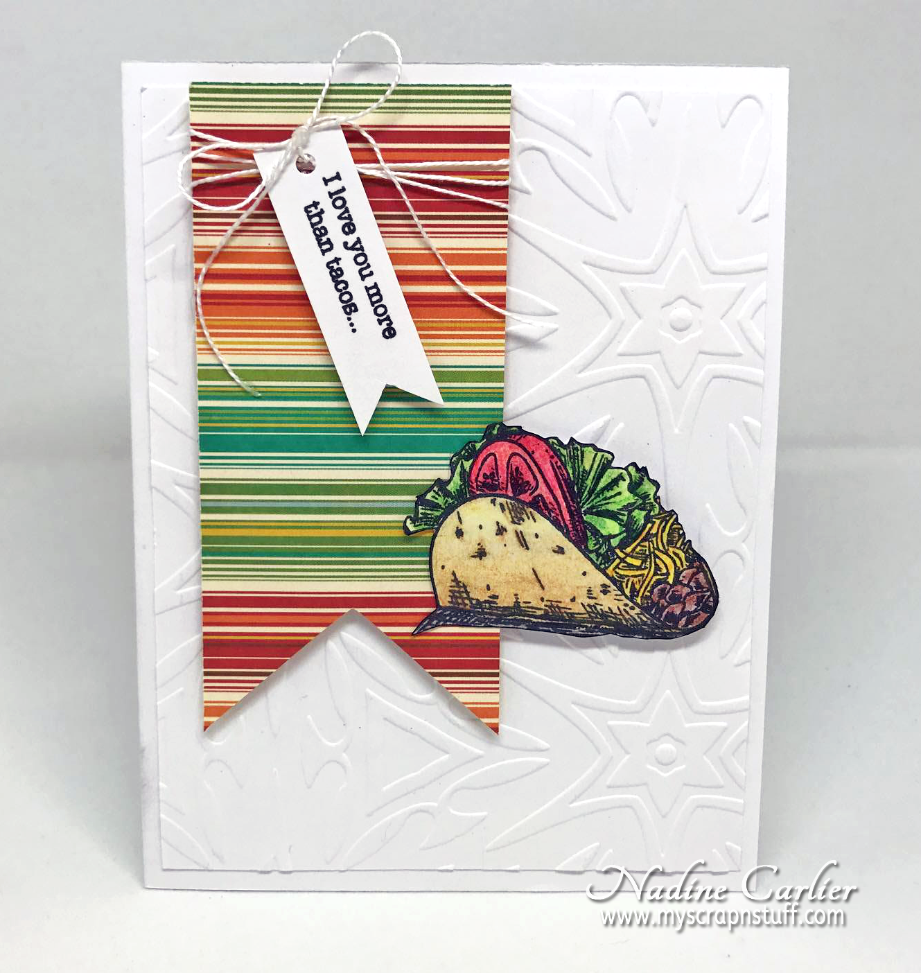 Taco Card using Brutus Monroe by Nadine Carlier