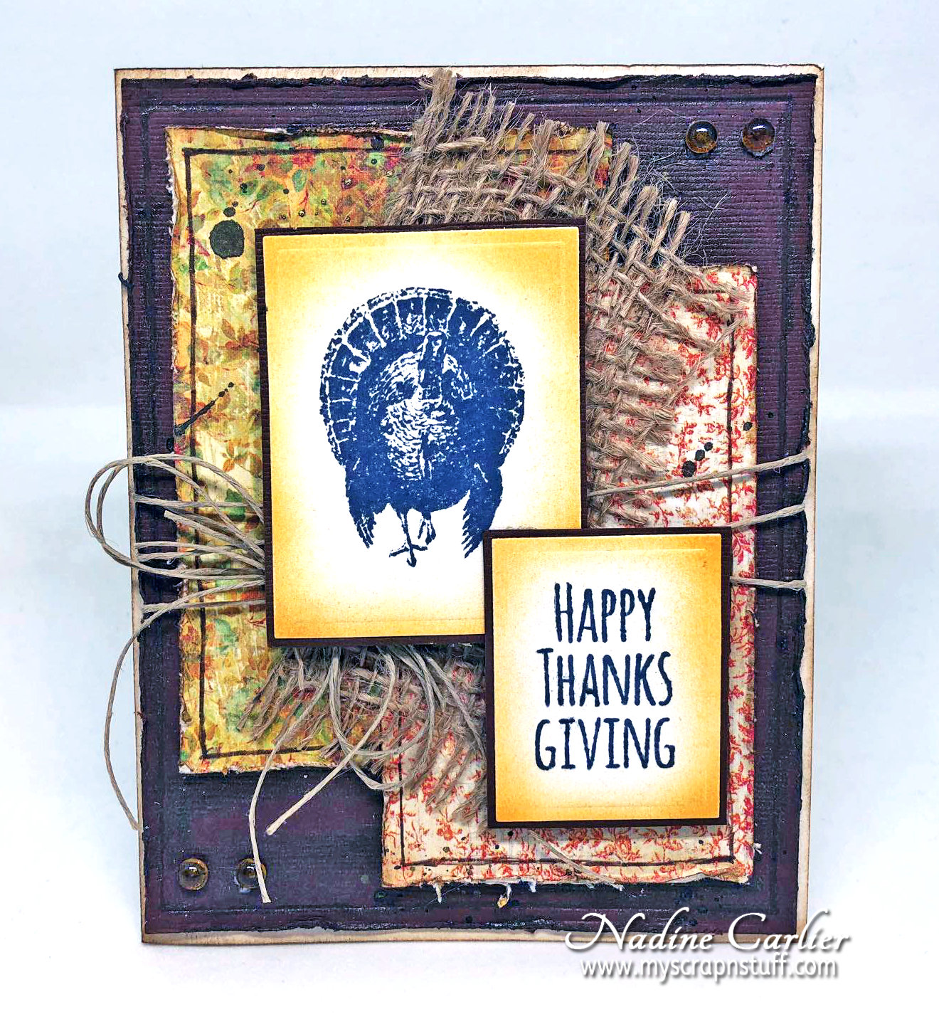 Happy Thanksgiving Card with Brutus Monroe by Nadine Carlier