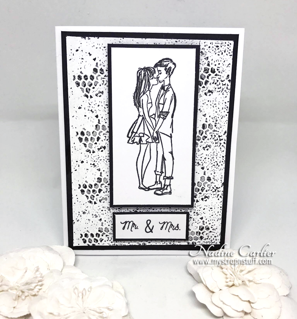 Black & White Wedding Card by Nadine Carlier