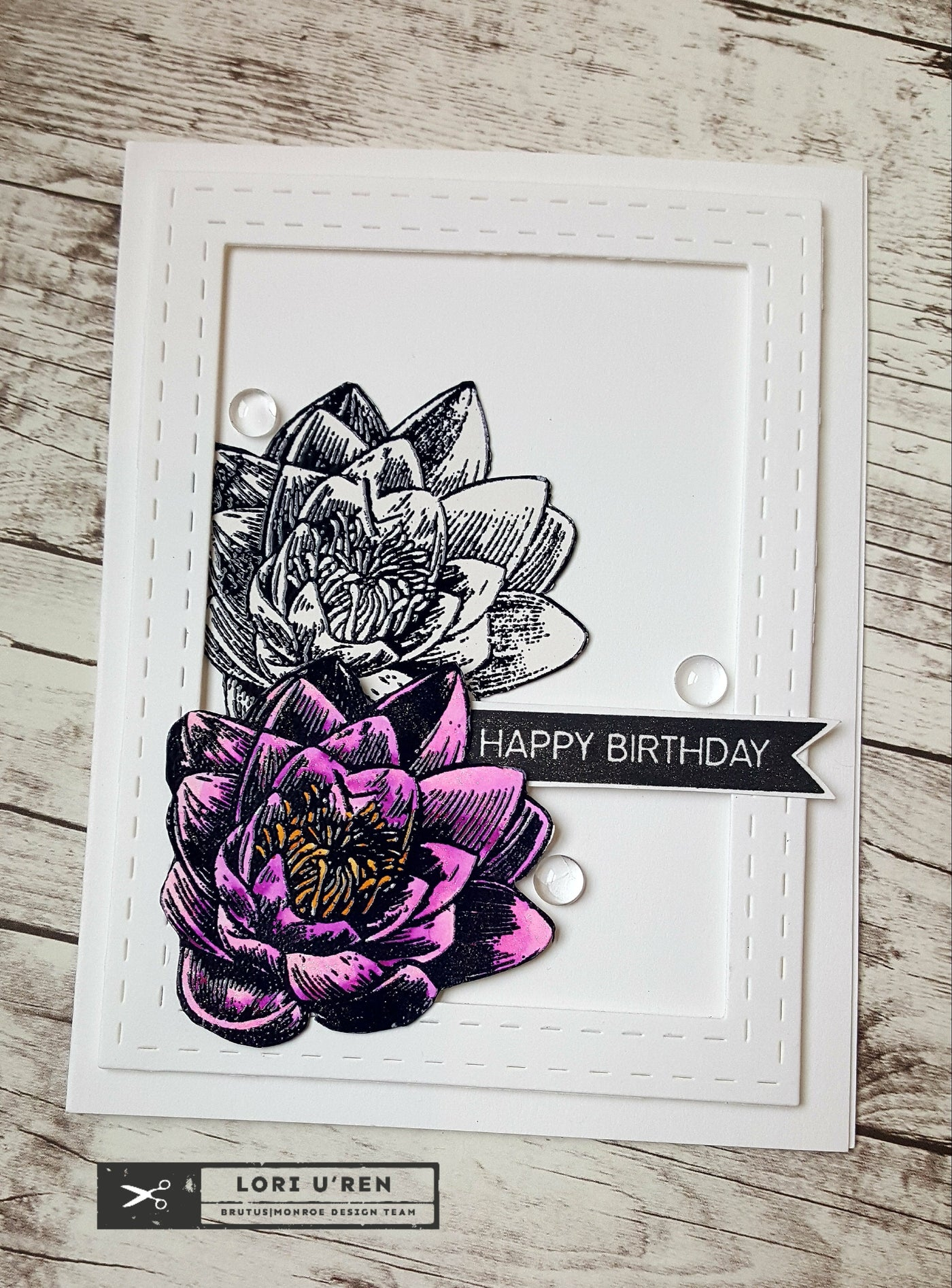 Happy Birthday Card | Baroque Background Stamp
