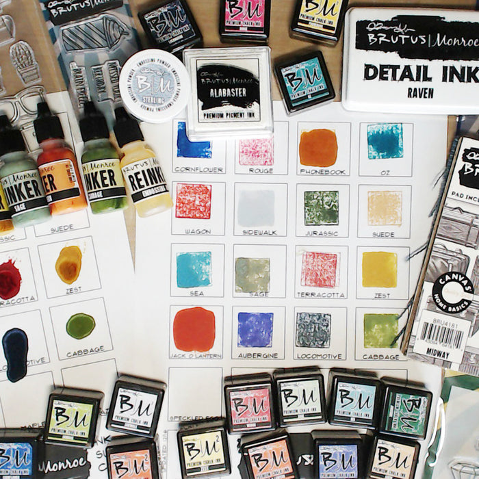 Brutus Monroe New Stamps Haul and Ink Swatching