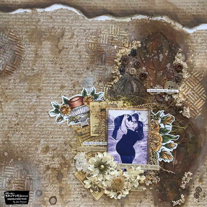 Grunge Glam Mixed Media Layout with Jess