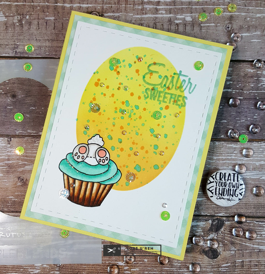 Easter Card using the Oval Simple Blends
