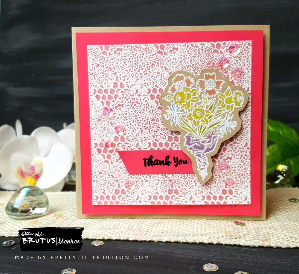 Floral Thank You Notelet