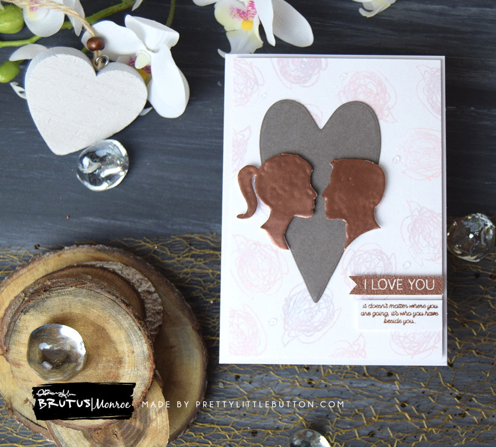 I love you Abstract art Valentines card