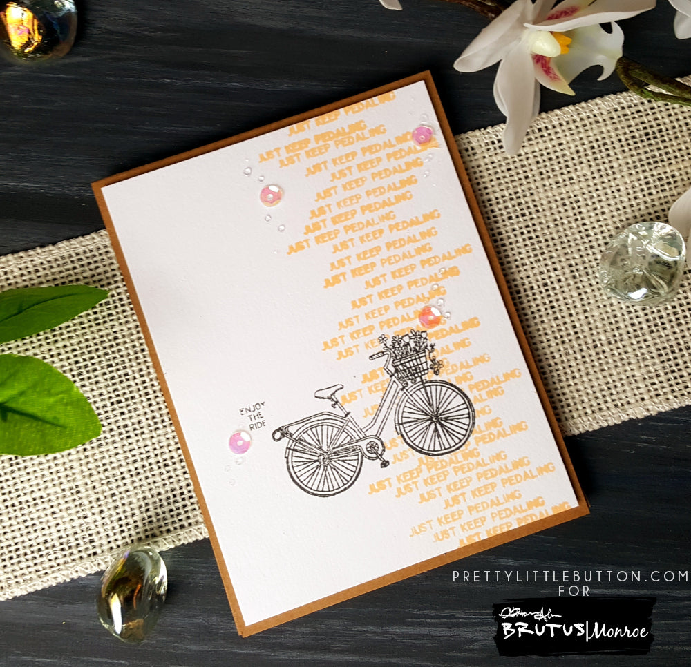 Just Keep Pedaling - Garden Bike Stamp Set