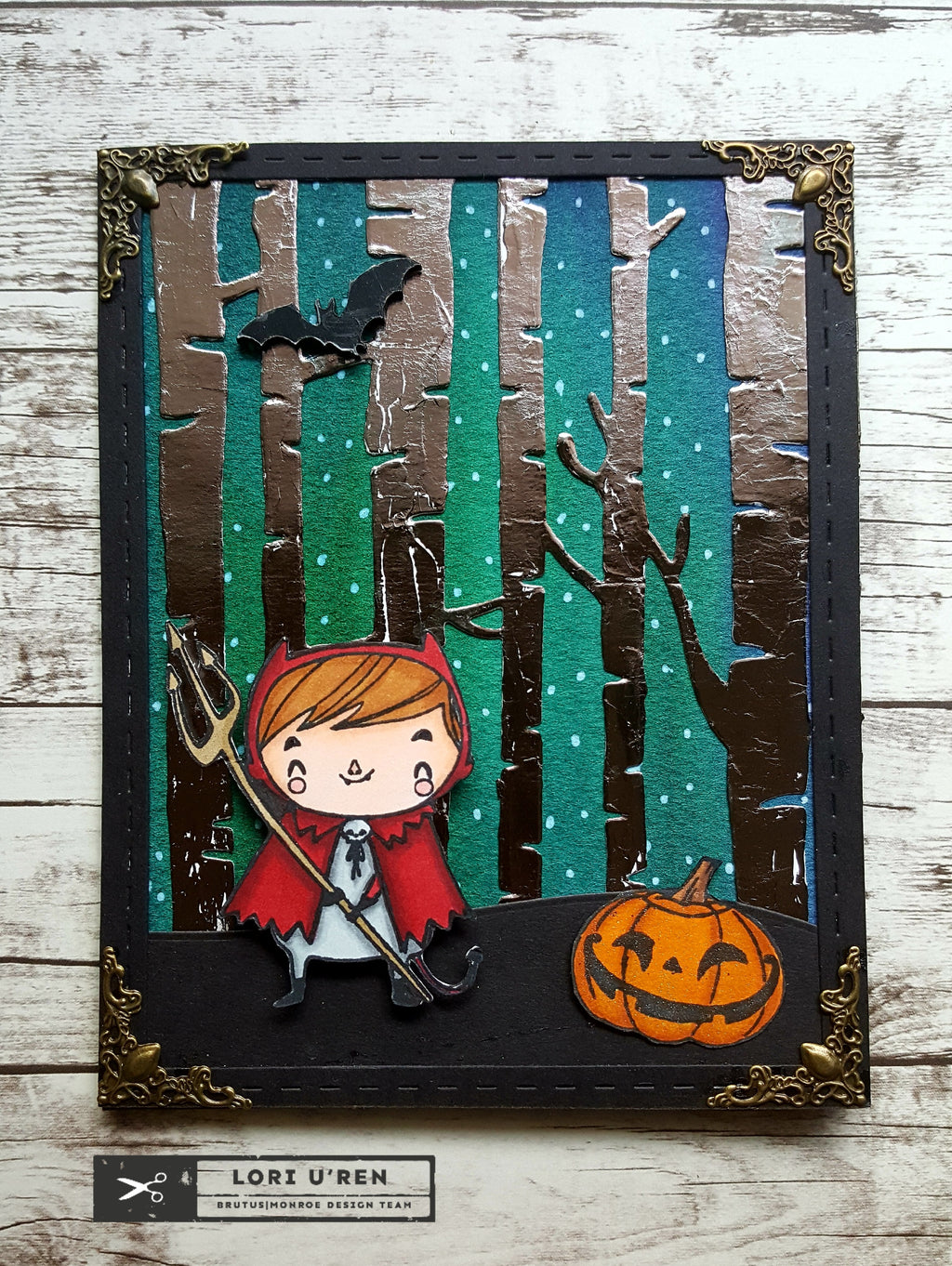 Brutus Monroe Halloween Card using Deco Foil Products