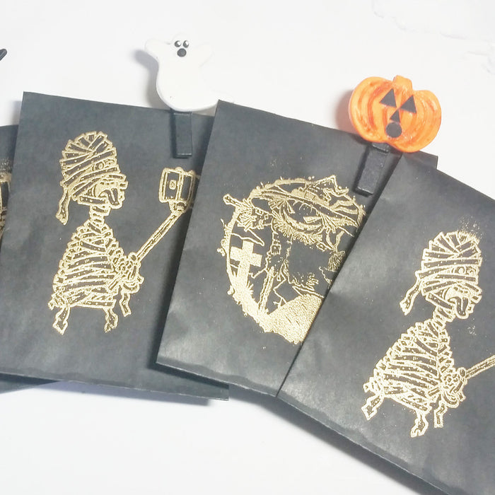 Heat Embossed Treat Bags