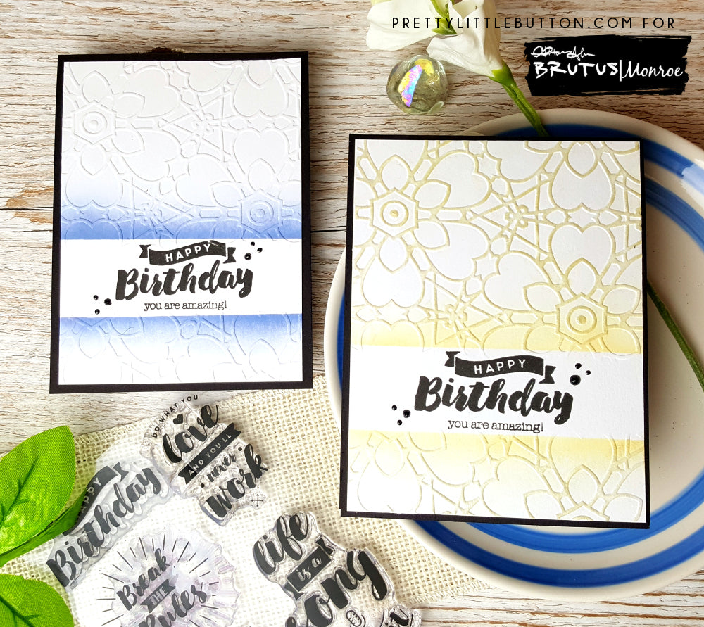 You are amazing! (Partial embossing sentiment highlight)