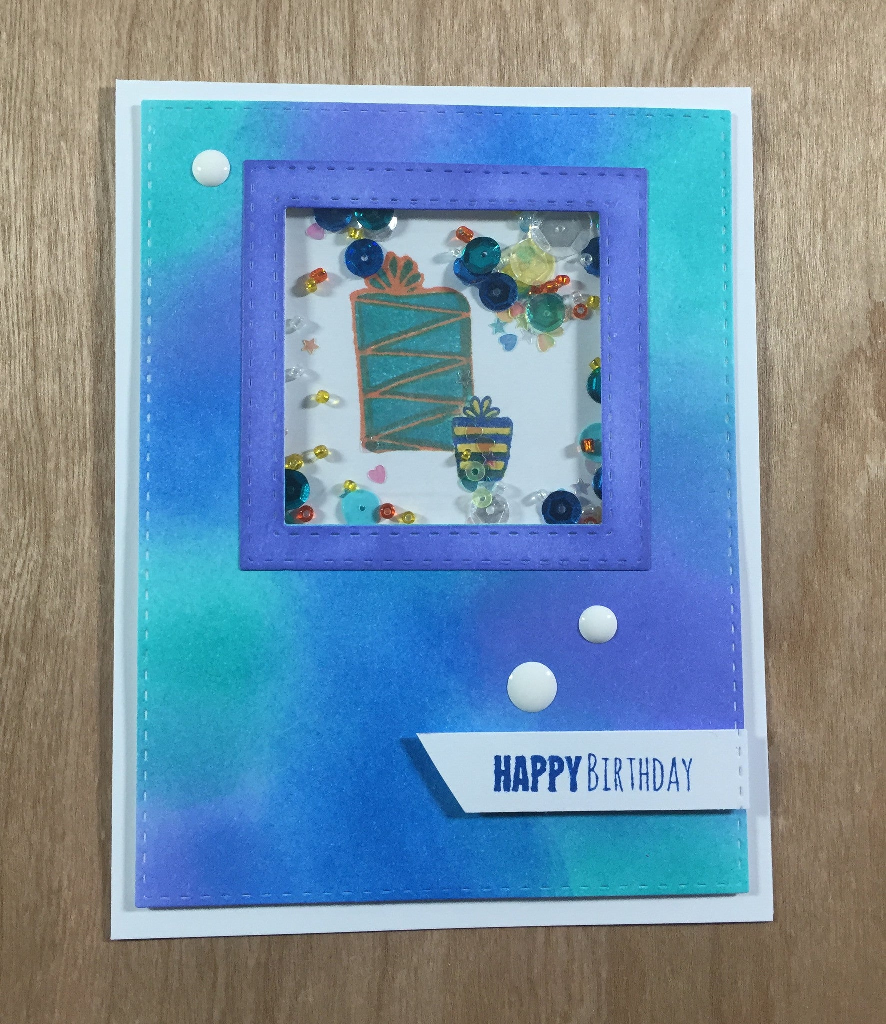 April Stamp Club - Birthday Shaker Card