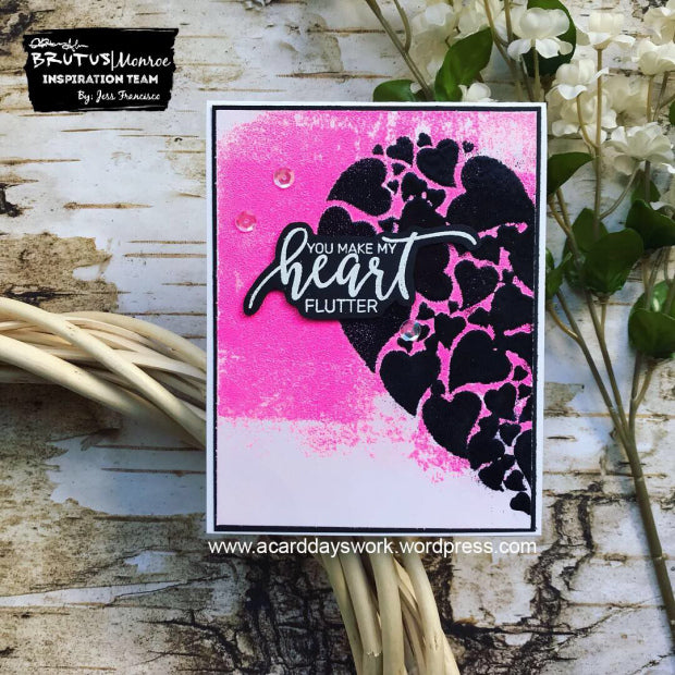 Layered Heat Embossing with Jess