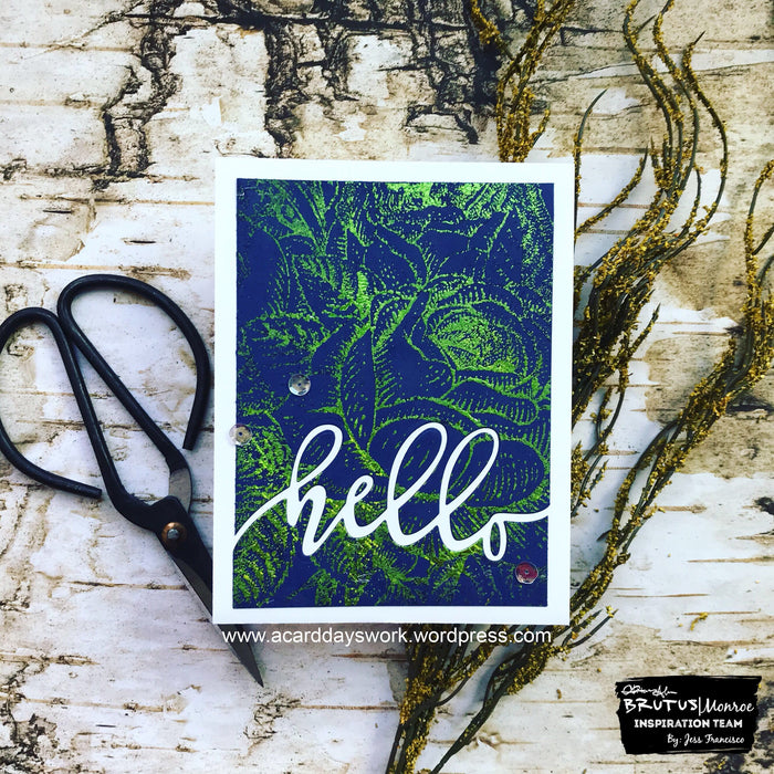 Green Sketch Foil Meets Enchanted Rose