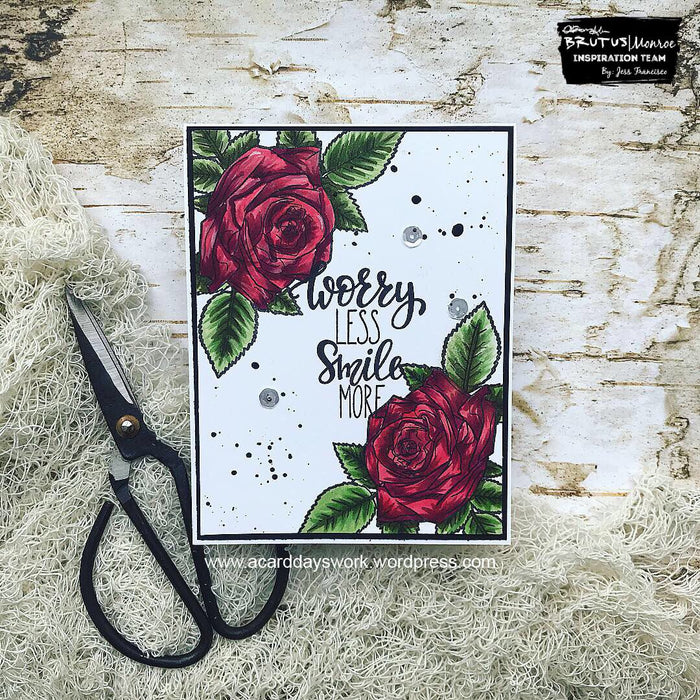 Quick and Elegant Card with Happy Rose