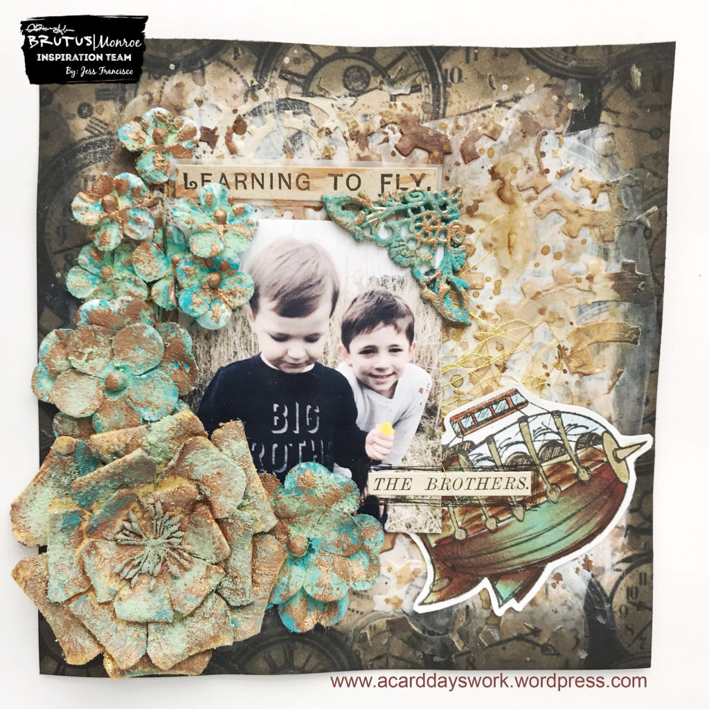 Steampunk Mixed Media Layout with Jess