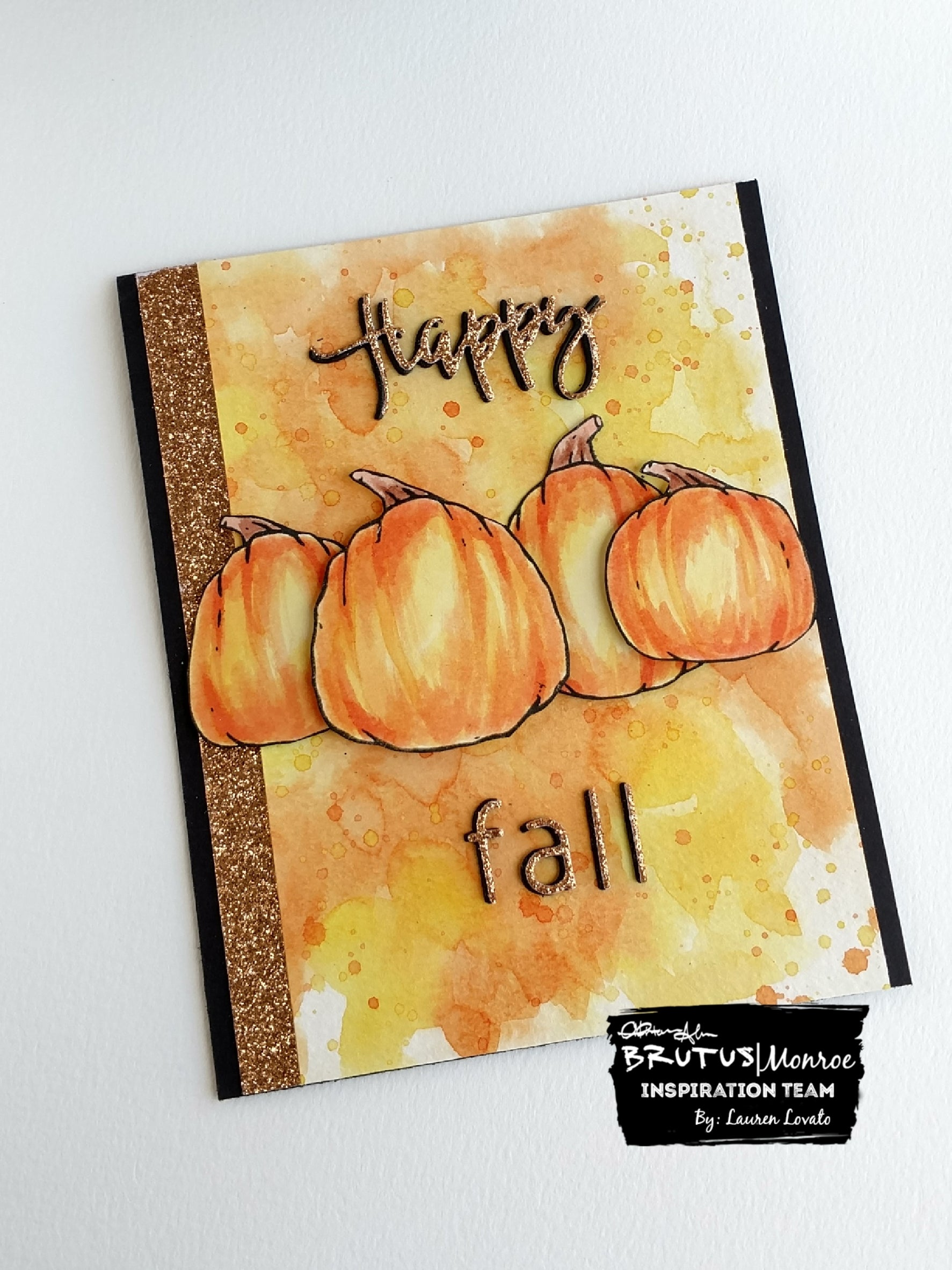 Hello Fall - Pumpkins and Glitterstock