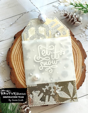 Snowflake Tag with Glitter Glaze