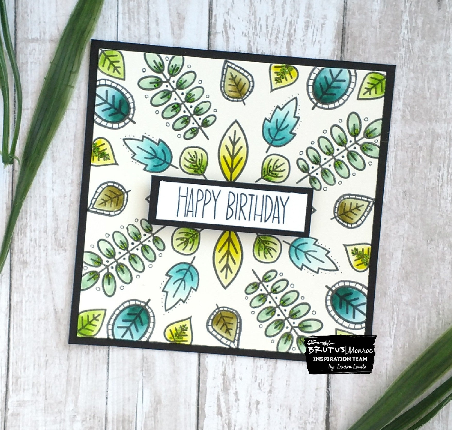 Leaf Card With Foiled Accents