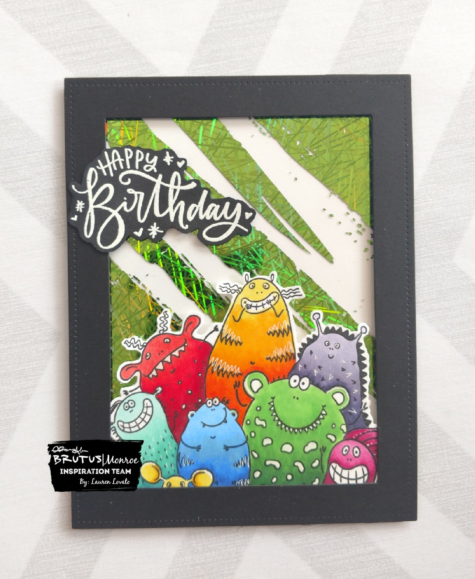 Monster Birthday Card with Foil
