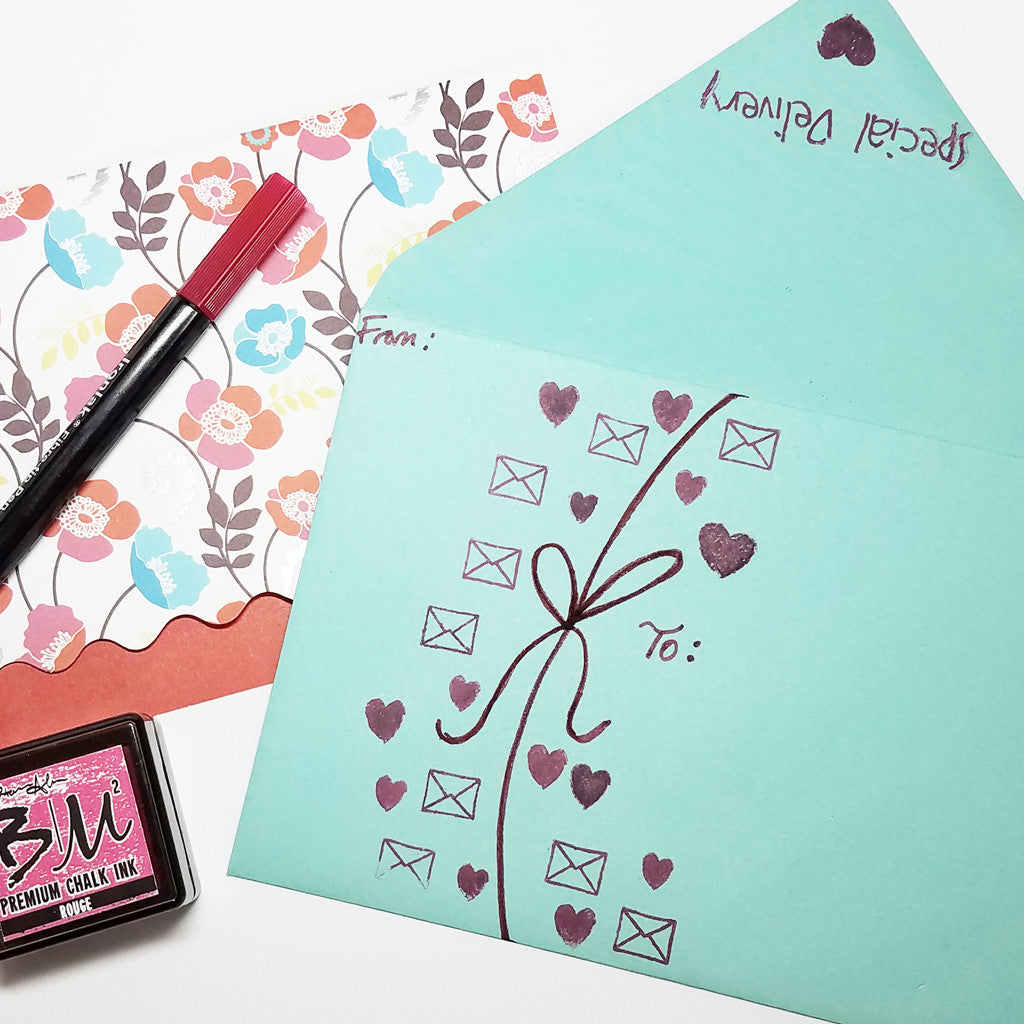2 Ways to Use Patterned Cards with Stamps