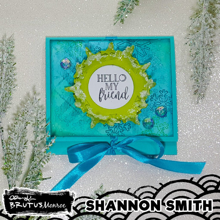 Quick Holiday Gift Card Holders using 2 Variations on Snow Scene Dies