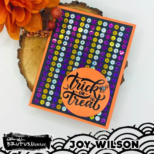 Halloween Sequin Card