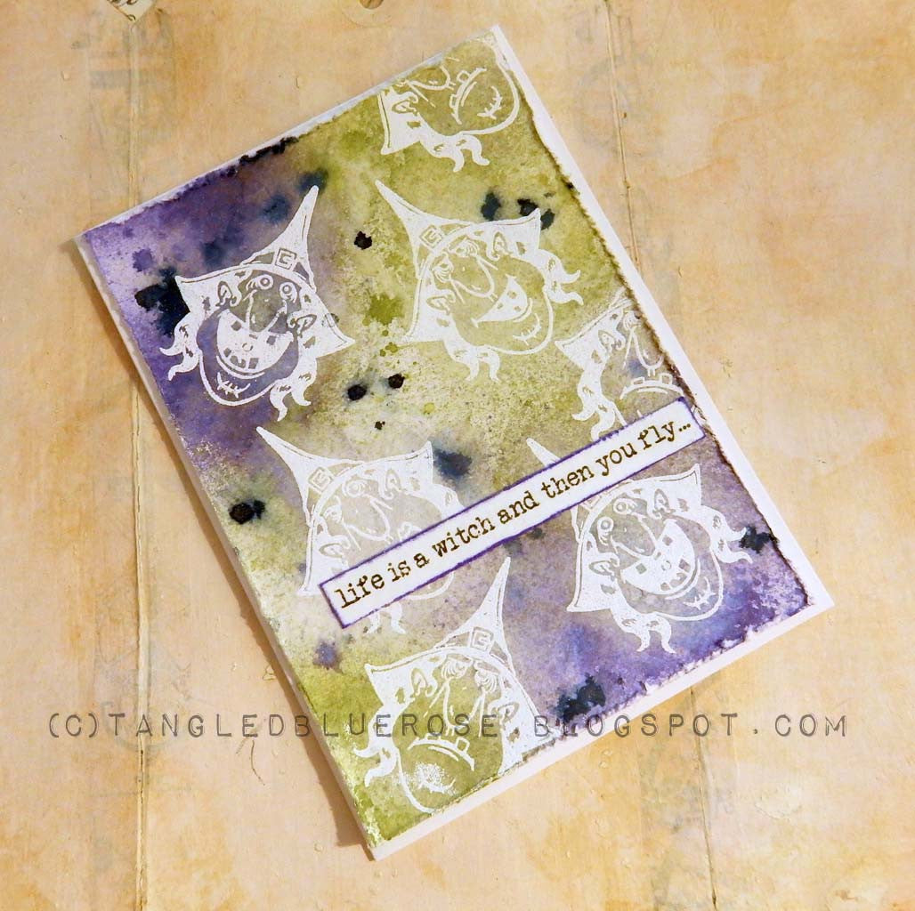 Mixed Media Witch Please Card by Kim