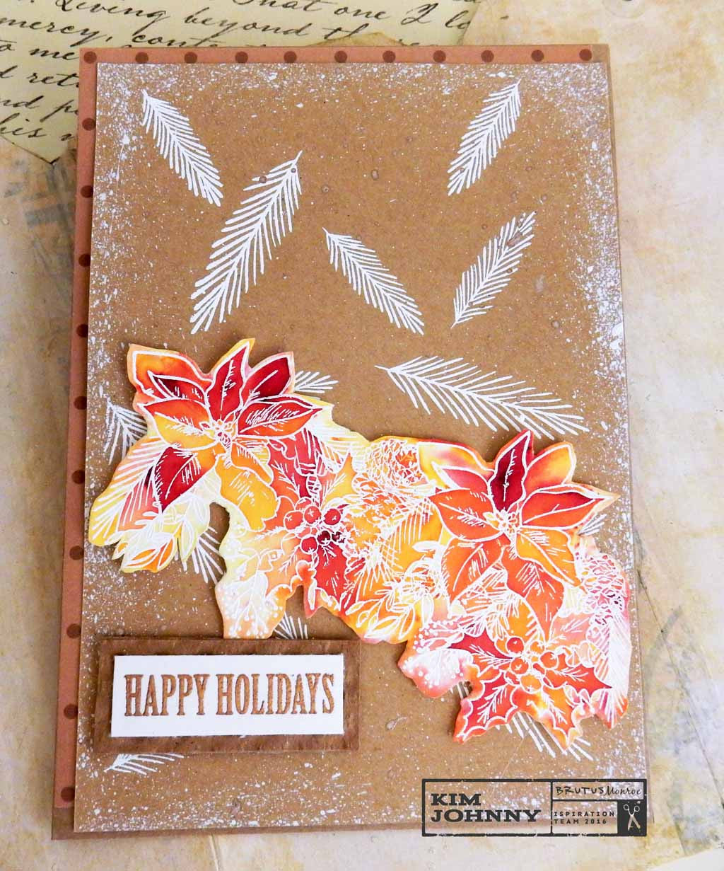 New Release Week~Holiday Flowers & Craft Card