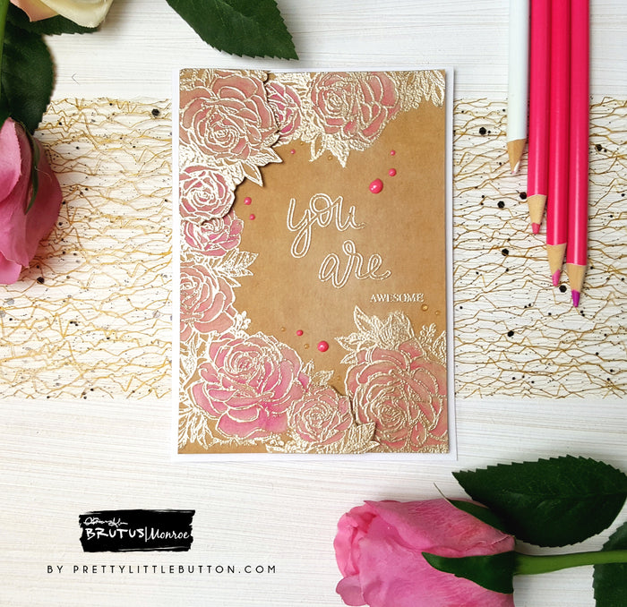 Botanical Banners Floral Embossed Frame card