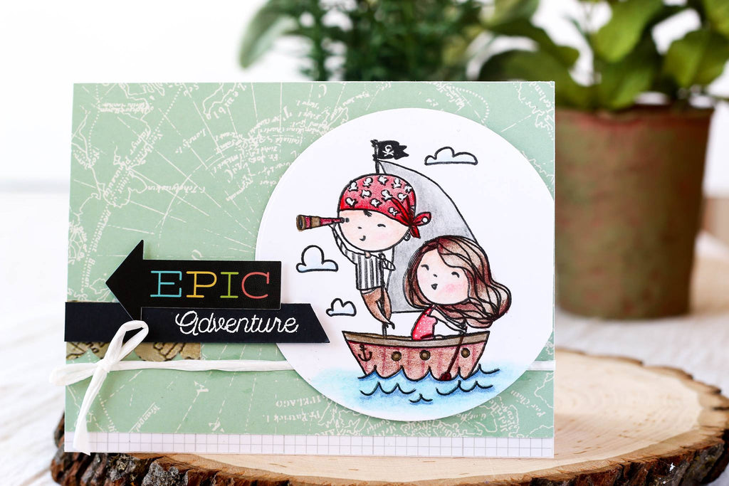 Love Sailing stamp set from Brutus Monroe makes the cutest handmade cards!