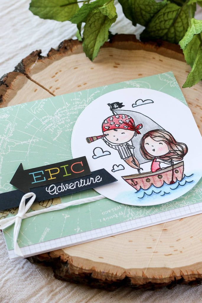 Love Sailing stamp set from Brutus Monroe is such a cute stamp to use on handmade cards!